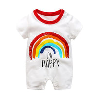 Rainbow Newborn Little Baby Girls Boy Girl Clothes Costume Bebes New Born Rompers Twin Infant Designer Clothing Jumpsuit Outfits