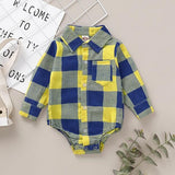 newborn baby boy long sleeve bodysuits infant boy plaid body bebe