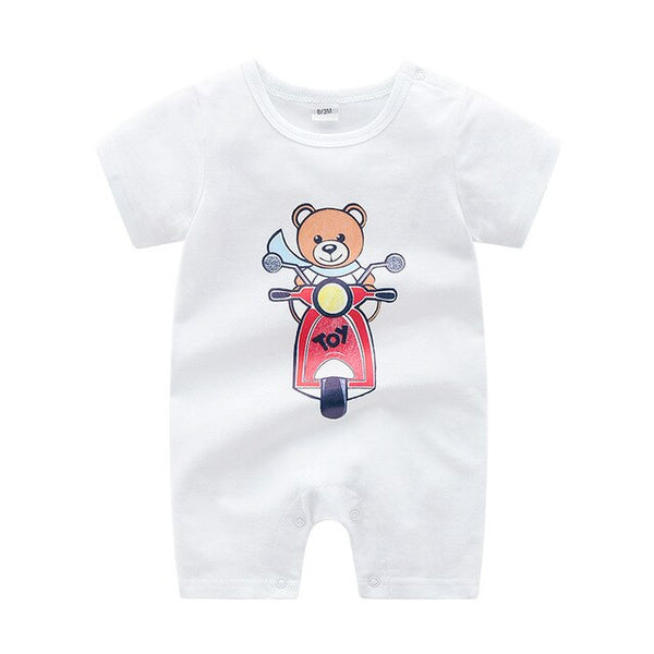 Newborn Baby Bodysuit Summer Baby Boy Clothing Newborn Clothes Roupas Bebe Bear Pattern Baby Girl Clothes Infant Jumpsuits