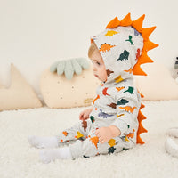 Baby Spring Clothes 3D Dinosaur Baby Romper Ropa Bebe Infant Cute Rompers Cotton 0-2 Y New Born Boy Girl Cartoon Funny Costume