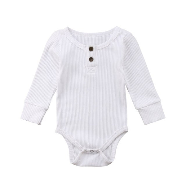 Brand Newborn Toddler Baby Girl Boy Bodysuit Long Sleeve Jumpsuit Ribbed Outfit Sweater Clothes Unisex Bebe Bodysuit Spring