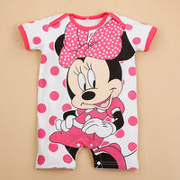 Newborn Mickey Baby Rompers  Baby Girl Clothes Boy Clothing Roupas Bebe Infant Jumpsuits Outfits Minnie Kids Clothing