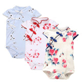 Summer Baby Girl Clothes Baby Rompers Cute Newborn Baby Clothes Kids Chinese Cheongsam Fashion Roupas Bebe Infant Jumpsuits