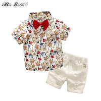 Kids Children 2020 Spring Summer Clothing Suit Baby Boy Summer Clothes Gentleman Wedding Party Outfits Birthday Bebes Costume
