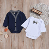 Baby Rompers Gentleman Baby Boy Clothing Toddler Boys Clothing Set Newborn Infant Jumpsuit Roupas Bebes Winter Kids Outfits