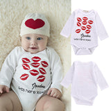 0-18M Newborn Infant Baby Boys Girls Clothes Cotton Long Sleeve Lip Print Cute Bebes Bodysuit Outfit Clothing