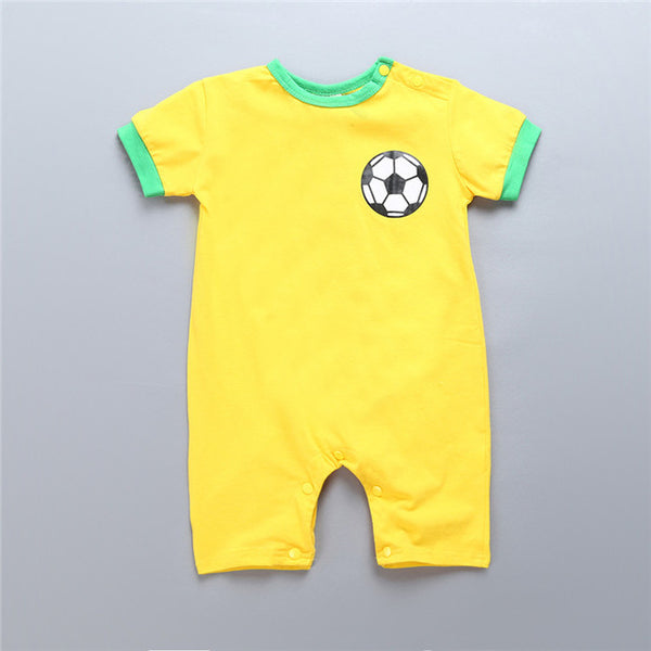 Bebe Roupas Cotton SHort sleeve Baby boys girls summer Jumpsuits the crazy little thing Milk newborn infant baby clothes rompers
