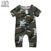 New Toddler Baby Boys Girls Camo Romper 2018 Summer Newborn Baby Boy Girl Short Sleeve Jumpsuit Bebes Cotton Romper Outfits 0-2Y