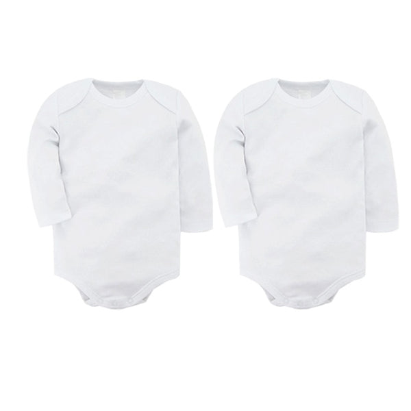 Baby Bodysuits Cotton Newborn Boy Girl Blank Long Sleeve 0-24 Months White Body Bebes Blanco Roupa Menina Solid New Baby Jumper