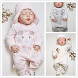 Kavkas baby rompers winter newborn baby warm thick velvet jumpsuits for bebe girls toddler long sleeved overalls jumper 0-24M