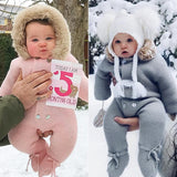 Winter Baby Rompers Cotton Baby Boy Clothes Baby Girl Clothes Newbown Baby Clothes Infant Jumpsuits Roupas Bebe Warm Jacket