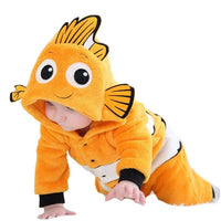 2019 Baby Rompers Fish Baby Boy Girl Jumpsuits Animals Newborn costumes Warm Winter Coral Fleece pijamas de bebe recien nacido