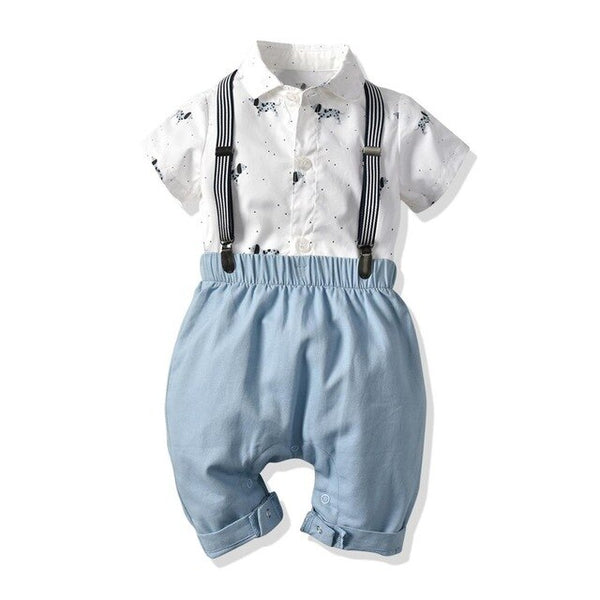 Baby boy clothes Gentleman Rompers + pants modis newborn clothing set Baby Suit Bow Tie Conjuntos bebe roupa infantil menino