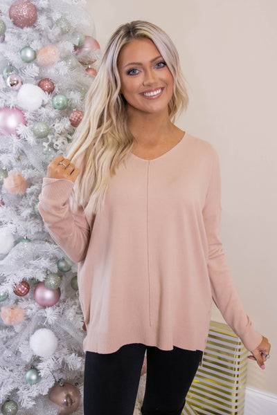 Luxuriously Soft Sweater- Taupe Sweater Feels Like Butter- $34