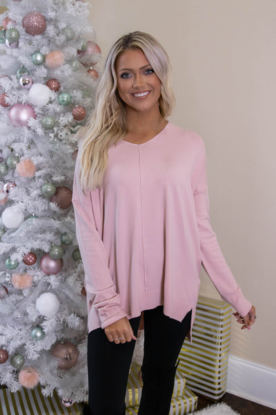 Luxuriously Soft Sweater- Blush Sweater Feels Like Butter- $34