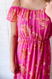 Floral Midi Dress- Tropical Vacation Dress- $46