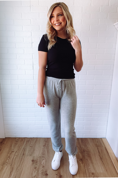 Moving On Joggers-Heather Grey