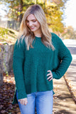 Cute Popcorn Hoodie- Hunter Green Popcorn Sweater- $42- Juliana's Boutique