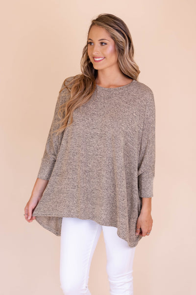 Never Looking Back Top-Dark Taupe