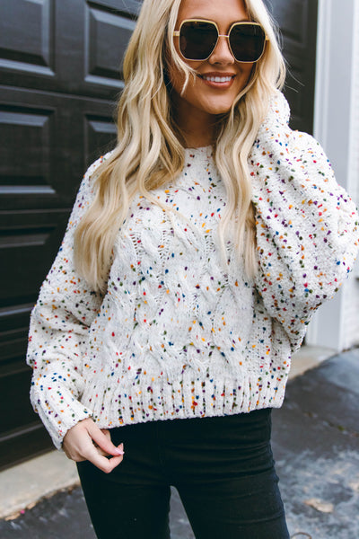 Spread Happiness Confetti Sweater