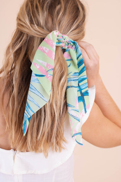 Tropical Hideaway Scrunchie-Mint