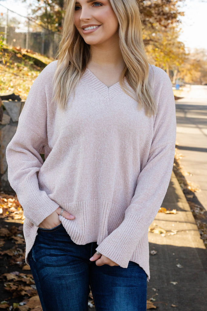 Luxuriously Soft Sweater- Pink Butter Sweater- $36- Cute Sweater With Pocket