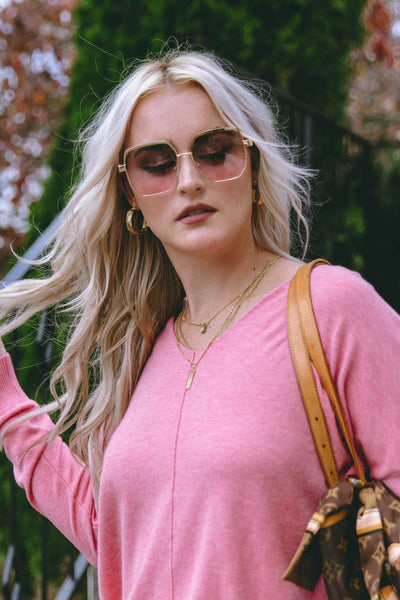 On To The Next Sunglasses-Pink Ombre