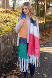 Cozy Multi Color Scarf- Trendy Fuzzy Oversized Scarf- $22- Juliana's Boutique