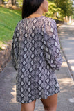 Throw Some Shade Snakeskin Tunic