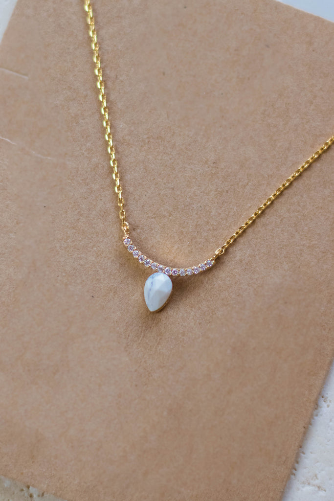 Dainty Gold Necklace- Gold Marble Necklace- $16- Juliana's Boutique