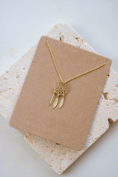 Dainty Gold Necklace- Small Gold Dream Catcher Necklace- $14- Juliana's Boutique