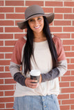 Grey Floppy Hat- Grey Wool Hat- Hats For Fall- $28- Juliana's Boutique