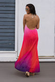 Kiss On The Lips Maxi Dress-Pink Ombré