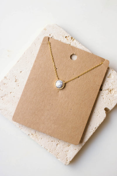 Dainty Gold Necklace- Gold Marble Necklace- $14- Juliana's Boutique