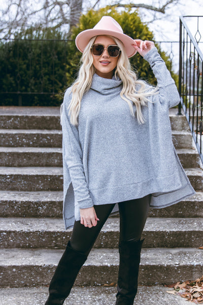 Make It A Tradition Sweater-Grey