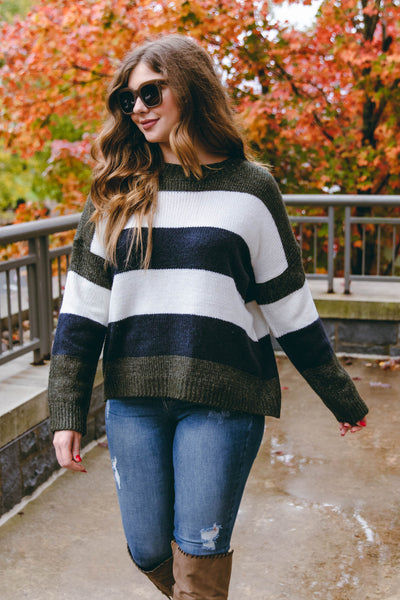 We've Got That In Common Sweater-Navy