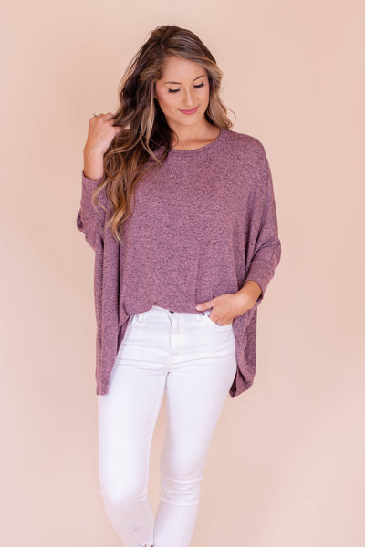 Never Looking Back Top-Mauve