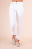 Distressed White Denim- White Denim Skinny Jeans- White Kan Can Jeans- $40- Juliana's Boutique