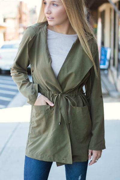 Darling Olive Orange Jacket- Chic Fall Jacket- Utility Jacket- $28