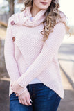 Women's Blush Pink Knit Sweater- Cute Button Sweater- $42- Affordable Online Women's Boutique