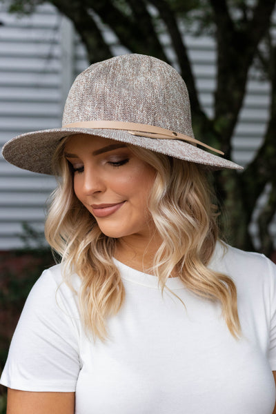 Tan Knit Fedora- Women's Beige Fall Hat- Cute Fall Accessories- $32