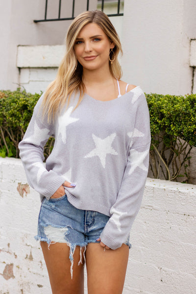 A Star is Born Sweater-Grey