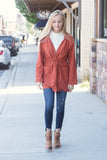 Darling Rust Orange Jacket- Chic Fall Jacket- Utility Jacket- $28