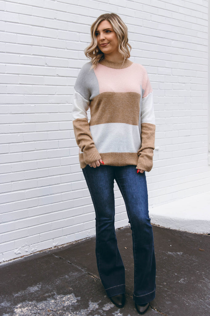 Brushed Mauve Top- Super Soft Pink Sweater- Simple Casual Top- $35