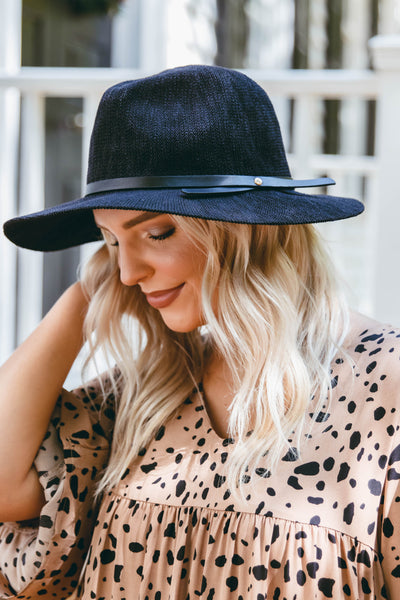 Black Knit Fedora- Women's Black Fall Hat- Cute Fall Accessories- $32