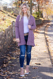 Living For The Moment Cardigan-Purple