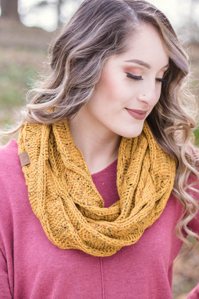 Hit Snooze Infinity Scarf-Goldenrod