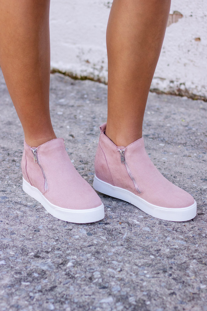 Women's Pink Sneaker Wedges- Cute Pink Sneaker Wedge- $30
