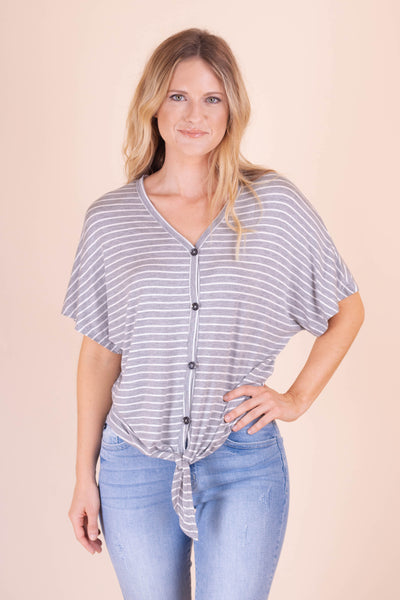 Saturday In The Park Top-Heather Grey