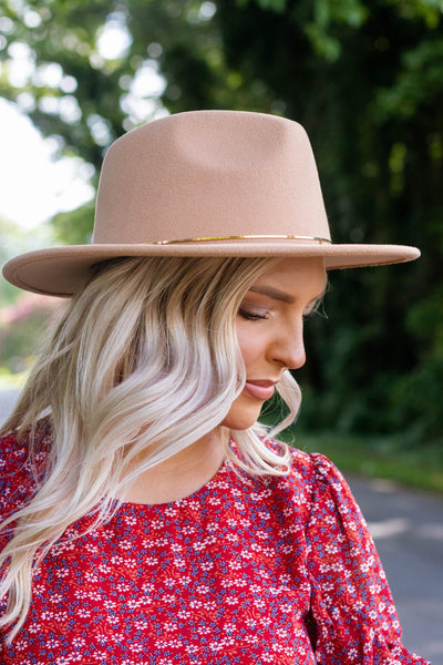 Felt Camel Hat- Women's Fall Hat- Women's Fall Accessories